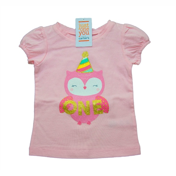 Carters Girl Shirt One 1 Year Old Birthday 18m